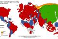 بين إمبراطوريتي جوجل وفيسبوك: خريطة مبتكرة للعالم حسب المواقع الأكثر زيارةً