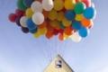 شاهدوا بالصور: ناشيونال جيوغرافيك تقوم بمحاولة ناجحة لصنع بيت البالونات الطائر