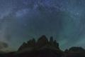 مجرة درب التبانة كما تظهر من القمم البارزة في جبال الألب الإيطالية