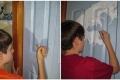 """طفل موهوب قام بإعادة إنشاء لوحة شهيرة على باب خزانته """" صور مذهلة """" !"""