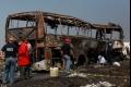 بالصور: احتراق حافلة بركابها الـ36 في المكسيك