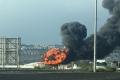 اندلاع حريق كبير بمصافي تكرير النفط في حيفا