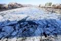 تجمد أكبر أنهار أوروبا للمرة الأولى منذ اكثر من مائة عام