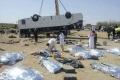 بالصور: مصرع وإصابة 50 معتمراً اردنياً في انقلاب حافلة معتمرين بالسعودية