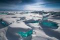 بالصور: ثلج طبيعي بلون الفيروز