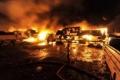 حريق في ناقلة نفط تحتوي على مواد خطيرة بحيفا