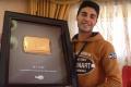 """بالفيديو: أول درع """"يوتيوب"""" ذهبي في فلسطين"""