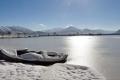 الصور: تجمّد رابع أكبر بحيرة في تركيا بسبب البرد القارس