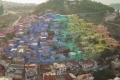 بالصور: بلدة سياحية تركية تكتسي بألوان قوس قزح.. استخدموا 50 ألف لتر من الطلاء لدهان ...