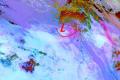 منخفض خماسيني وزخات محلية من الامطار وموجة غبار تؤثر على المنطقة.