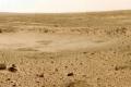 عاصفة ترابية على سطح المريخ