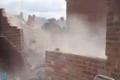 بالفيديو.. شاب ينجو من الموت انهار جدار عليه يزن 15 طناً
