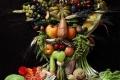 أمريكي يبدع لوحات فنية بالفواكه واللحوم