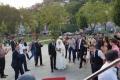 بالصور: العروس من الضفة الغربية و العريس من غزة والعرس مظاهرة في تركيا