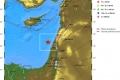 يوم أمس...هزة أرضية خفيفة قبالة السواحل الشمالية لفلسطينين