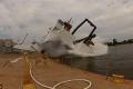 شاهد الصور.. عاصفة ضخمة تدمّر سفينة في ويسكونسن الأمريكية