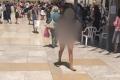 تدنيس مقزز من فتاة يهودية تعرّت بالكامل في ساحة البراق في القدس