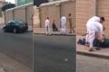فيديو.. مصري في حالة هيستيرية عقب قتله زوجته
