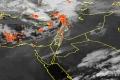 الأقمار الصناعية ترصد الغيوم الماطرة والرعدية في البحر المتوسط 10/2/2015