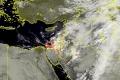 الأقمار الصناعية ترصد الغيوم الماطرة في فلسطين صباح اليوم الثلاثاء 17/11/2015