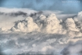 الغيوم الركامية كما ظهرت هذا اليوم في نابلس