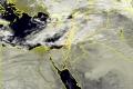 الأقمار الصناعية ظهر اليوم الجمعة ترصد الغيوم الماطرة شرق البحر المتوسط