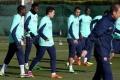 تدريبات خفيفة للاعبي برشلونة بعد التأهل الأوروبي
