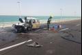 بالصور... مصرع ستة أطفال وابويهما حرقا في حادث سير مميت قرب البحر الميت