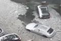 """بالفيديو.. """"السيول الجليدية"""" تجتاح شوارع بوسطن"""