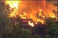 اندلاع حريق كبير في حرش جرزيم بنابلس