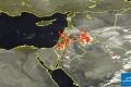 الأقمار الصناعية ترصد المناطق المشتعلة بالغيوم الرعدية هذه الأثناء
