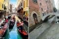 """في ظاهرة غريبة ....المياه """"تختفي"""" من أزقة البندقية الإيطالية !"""
