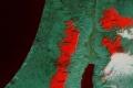 الأقمار الصناعية ترصد ثلوج فلسطين والأردن بتاريخ 15/12/2013