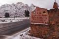 بالصور.. الثلوج تغطي سانت كاترين السيناوية