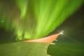 فيديو  منظر رائع للشفق القطبي من على متن طائرة