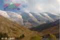 الثلوج تساقطت على قمم جبل الشيخ خلال 36 ساعة الماضية