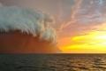 عاصفة الغبار الأحمر تسونامي أستراليا