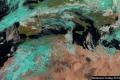 الأقمار الصناعية تظهر السحب الكثيفة المصاحبة للمنخفض الجوي