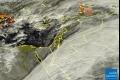صورة الأقمار الصناعيه اليوم الاثنين 28/1/2013 ، سحب ضخمة جنوب شرق المنطقة وسحب وافدة من ...