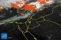 الأقمار الصناعية ترصد عواصف رعدية كثيفة شمال غرب بلاد الشام | 27/9/2014