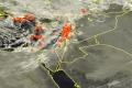 """الأقمار الصناعية ترصد سحباً رعدية تقترب من فلسطين مع بدء تأثير """"شام"""""""