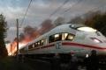 لقطات تحبس الأنفاس من احتراق قطار سريع في ألمانيا! (فيديو+صور)