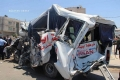 بالصور : وفيات و25 اصابة في حادث مروع لإطفال الأسرى الفلسطينيين في شمال غزة