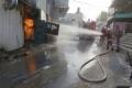 بالصور | الدفاع المدني يمنع كارثة انفجار اسطوانات غاز في أحد مطاعم نابلس