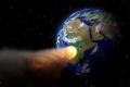 كويكب ضخم يضرب الأرض