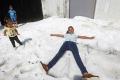 بالصور.. تساقط البرد الضخم في الصيف.. ظاهرة مناخية نادرة بالمكسيك