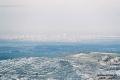 صورة نادرة للساحل التقطت من قمة جبل عيبال في يوم مثلج