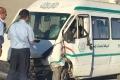 إصابة العشرات في حادث سير كبير بين حافلة ومركبتين قرب رام الله