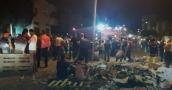 ارتفاع حصيلة الاصابات الى 45 اصابة جراء حريق هائل في نابلس