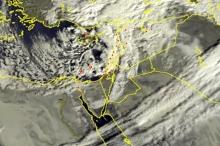 الأقمار الصناعية ترصد الغيوم الركامية الكثيفة المرافقة للمنخفض الجوي صباح ...